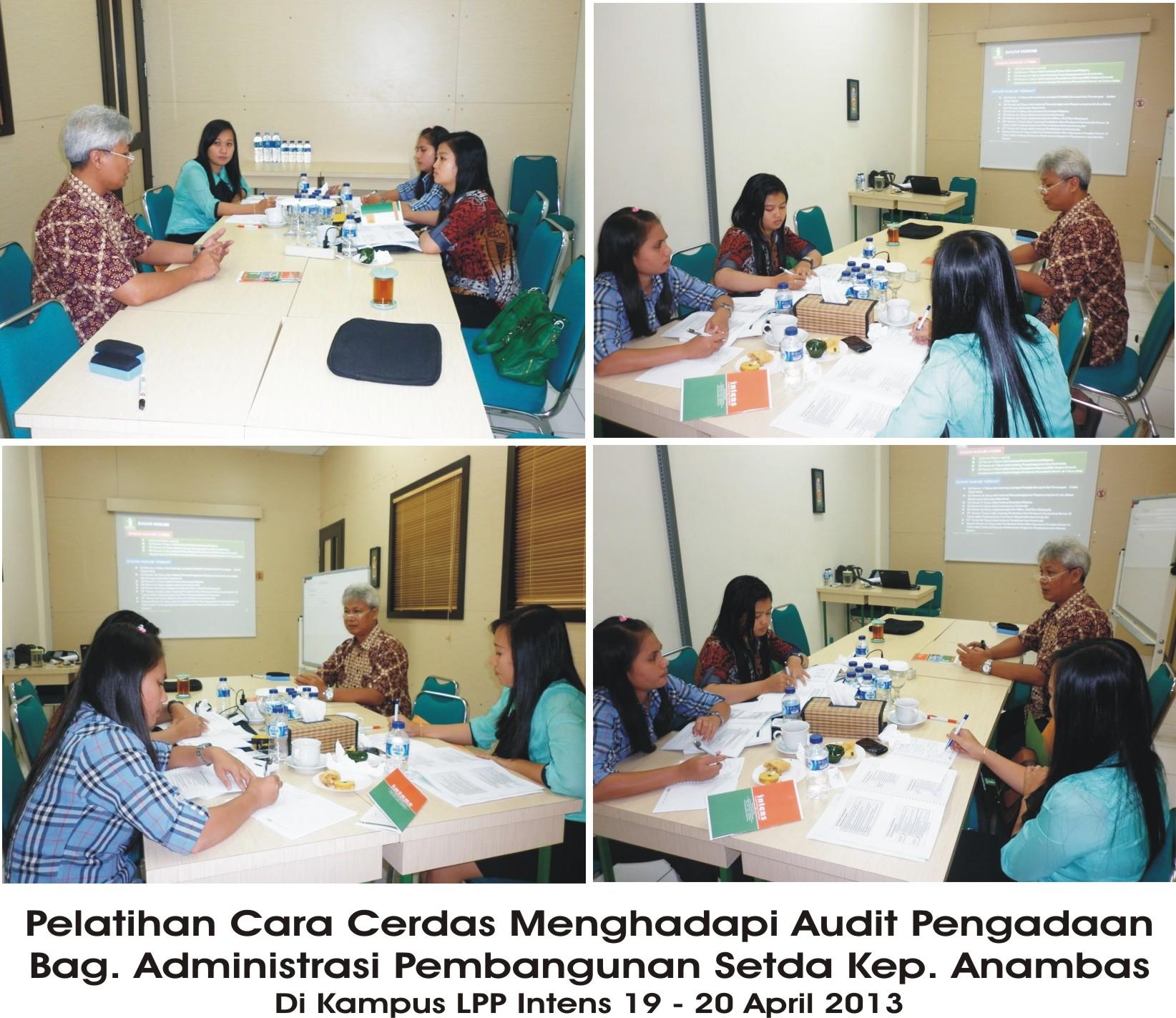Pelatihan Cara Cerdas Menghadapi Audit Pengadaan Bag. Administrasi Pembangunan Setda Kep