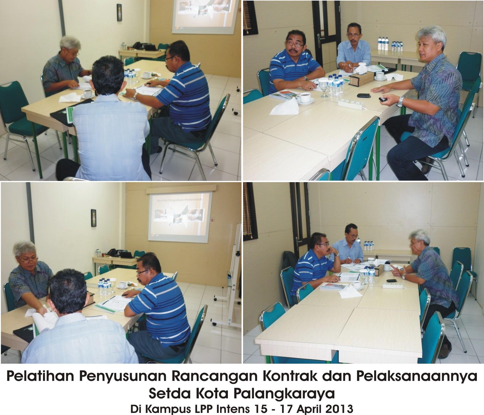 Pelatihan Penyusunan Rancangan Kontrak dan Pelaksanaannya Setda Kota Palangkaraya